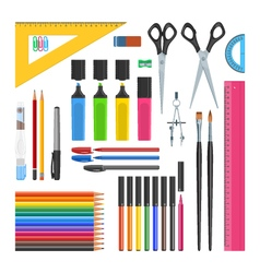 Stationery objects set vector