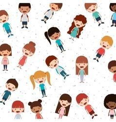 happy kids background vector image