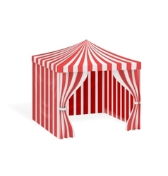 Carnival tent for outdoor party event vector