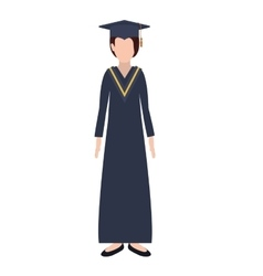 Silhouette woman with graduation outfit vector