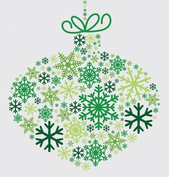 Bauble made of snowflakes in format vector image