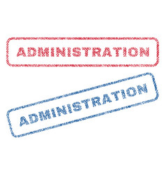 Administration textile stamps vector