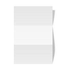 Three times folded paper sheet placed on white vector