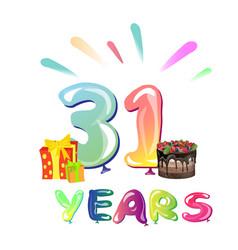 31 years anniversary celebration vector