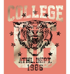 Tiger athletic department vector