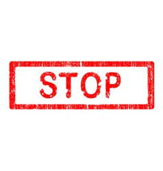 Office stamp stop vector