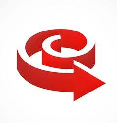 3d arrow shape logo vector