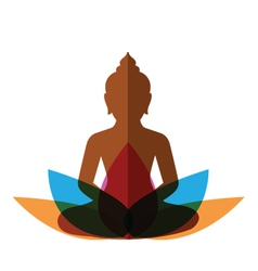 Meditation budha post vector