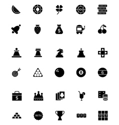 Casino and gambling icons 2 vector