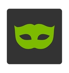 Privacy mask flat eco green and gray colors vector
