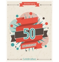 Anniversary abstract background with ribbon and vector