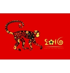 Oriental horoscope year of the monkey vector