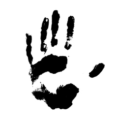 Black handprint vector