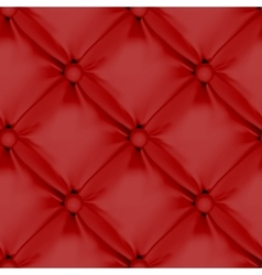 Red seamless leather upholstery pattern vector