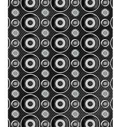 Audio speakers seamless pattern vector