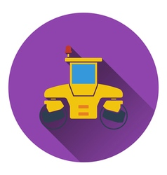 Icon of road roller vector