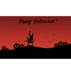 Backgrounds halloween pumpkin and monster vector