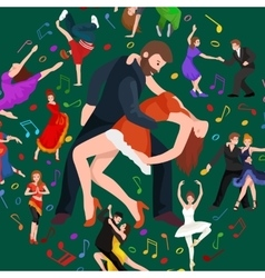 Couple dancing modern dance vector