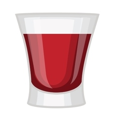 Whisky shot cup vector