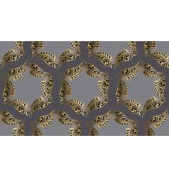 Art nouveau style round pattern vector