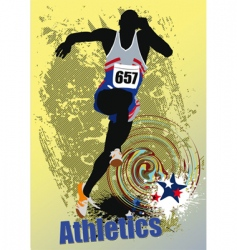 athletics poster vector image vector image