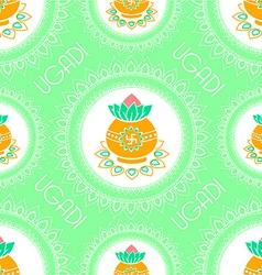 background for ugadi celebration vector image