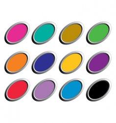 buttons oval vector image vector image