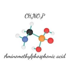 CH6NO3P Aminomethylphosphonic acid vector image