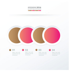 Circle overlap infographic pink and sugar color vector