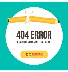 Concept 404 error page vector image vector image