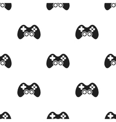 Controller black icon for web and vector image vector image