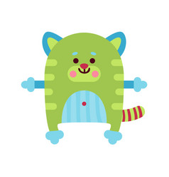 cute cartoon cat animal toy colorful vector image