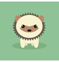 Cute cartoon porcupine vector