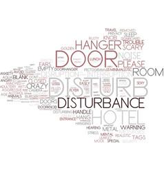 Disturbance word cloud concept vector