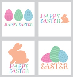 Easter greeting card pack pastel vector