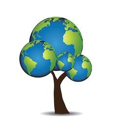 Globe tree vector image