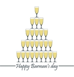 Happy Barman day vector image