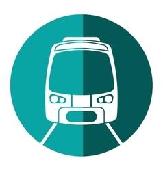 High speed train passenger rail road green circle vector