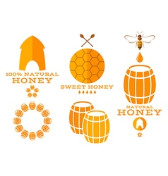 Honey Isolated labels and icons vector image
