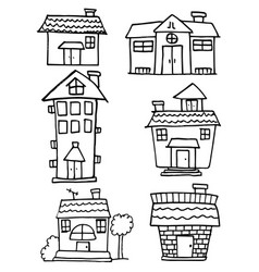 House set style hand draw vector