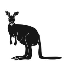 Kangaroo icon in black style isolated on white vector image vector image
