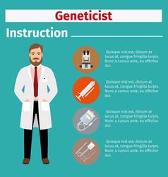 Medical equipment instruction for geneticist vector