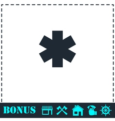 Medical icon flat vector