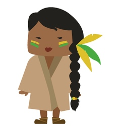 Native american woman vector