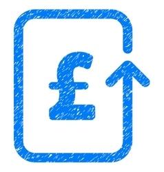 Reverse pound transaction grainy texture icon vector