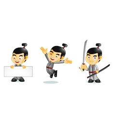 Samurai 1 vector image vector image