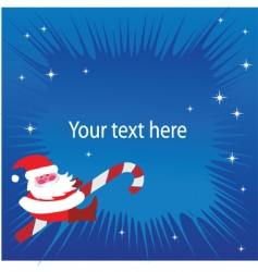 Santa Claus greeting card vector image vector image