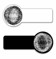scribble tag vector image vector image