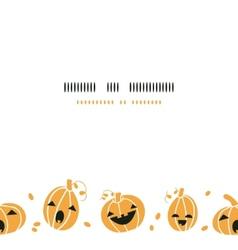 Smiling halloween pumpkins horizontal border vector