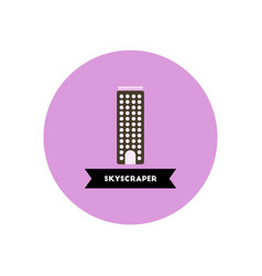 Stylish icon in color circle building skyscraper vector